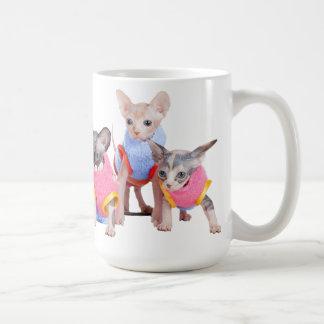 Taza de café de los gatitos de Sphynx el |