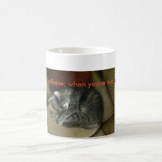 taza de café de los Gato-amantes; gato de tabby