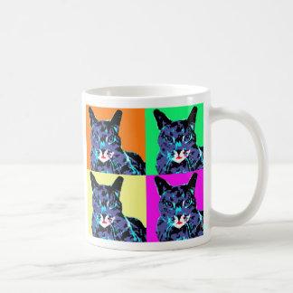 Taza de café de los gatos del arte pop