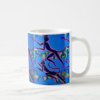 "Taza de café de los ""monos azules"""