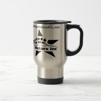 Taza de café de los motores de All Star del acero