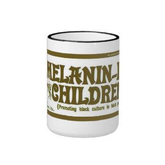Taza de café de los niños de la Melanina-ite