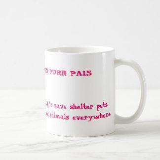 Taza de café de los Pals del ronroneo de Kally