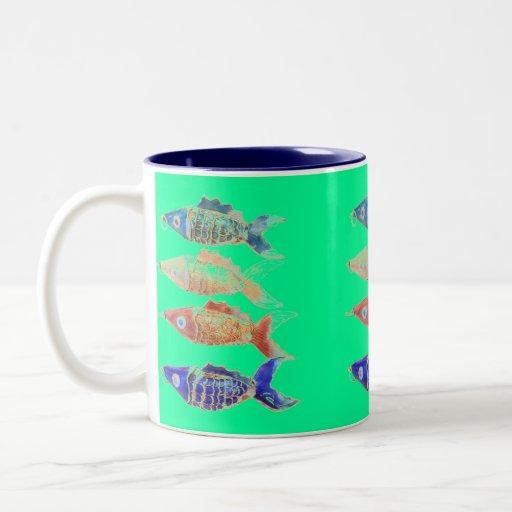 Taza de café de los pescados