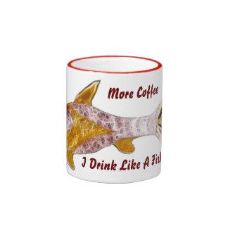 Taza de café de los pescados de Sun