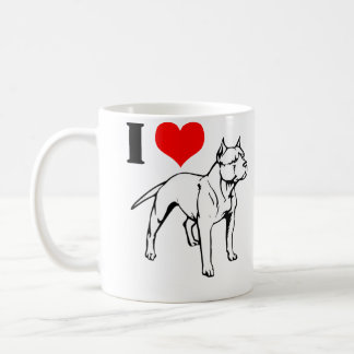 Taza de café de los pitbulls I (del corazón)
