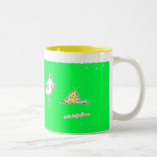 Taza de café de los pollos