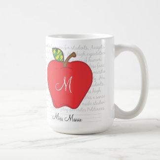 Taza de café de los profesores de Apple del monogr