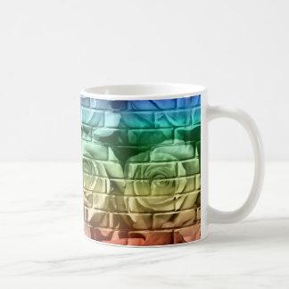 Taza de café de los rosas 16-Rainbow-11oz del