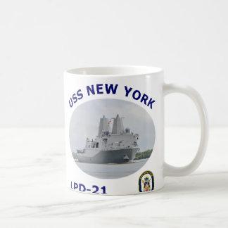 Taza de café de LPD 21 USS Nueva York