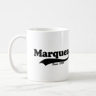 """Taza de café de """"Marquez… desde 1598"""""""