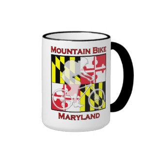 Taza de café de Maryland de la bici de montaña