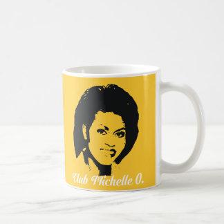 Taza de café de Michelle O. Ceramic del club, amar