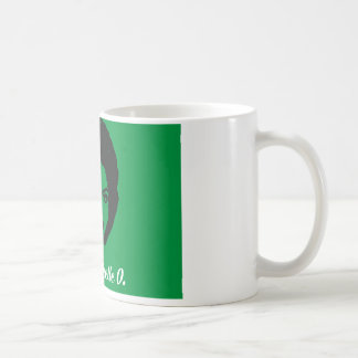 Taza de café de Michelle O. Ceramic del club, verd