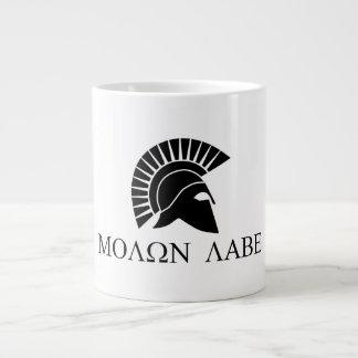 Taza de café de Molon Labe Taza Grande