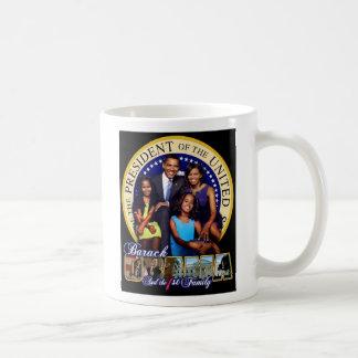 Taza de café de Obama y de la familia