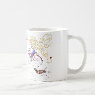 Taza de café de oro del pelo de la hermana del ama