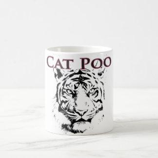 Taza de café de Poo del gato
