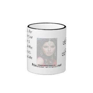 Taza de café de princesa Portraits Thank You (blan