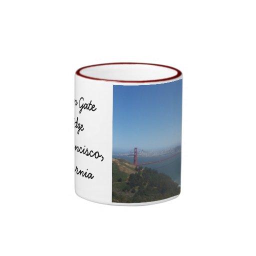 Taza de café de puente Golden Gate