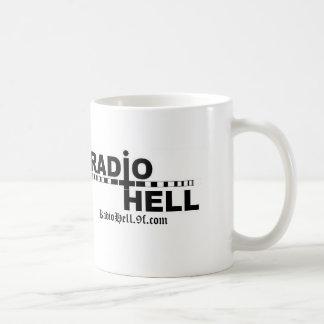 Taza de café de radio del infierno