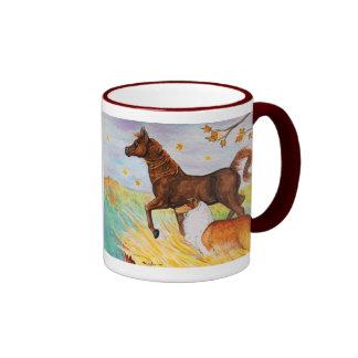 """""""Taza de café de Ridge del puesto de observación"""" Taza De Dos Colores"""