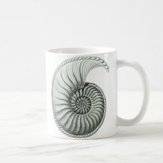 Taza de café de Shell del nautilus del vintage