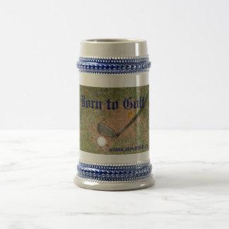 Taza de café de Stein de la cerveza del golf