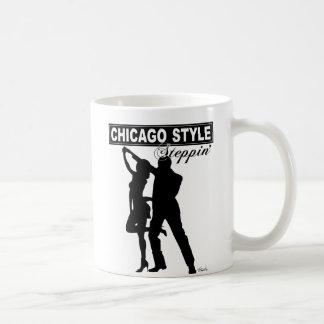 Taza de café de Steppin del estilo de Chicago