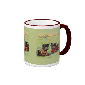 Taza de café de Terrier del escocés del vintage