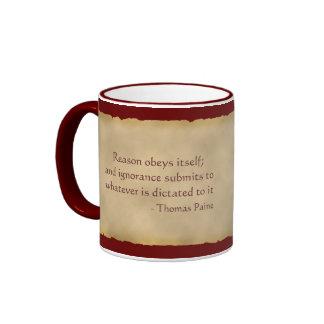 Taza de café de Thomas Paine