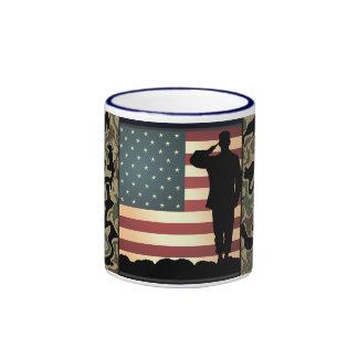 Taza de café de Toops del americano de Camo de la