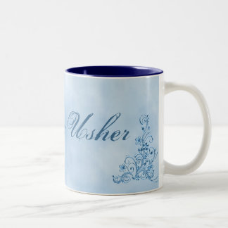 Taza de café de Usher del boda grande: Elegancia d
