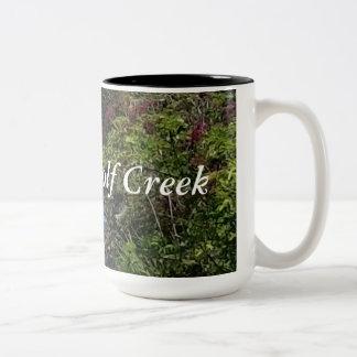 Taza de café de Wolf Creek de la madera