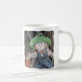 Taza de café decorativa del espantapájaros