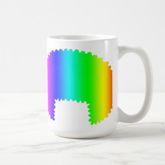 Taza de café del AFro del arco iris