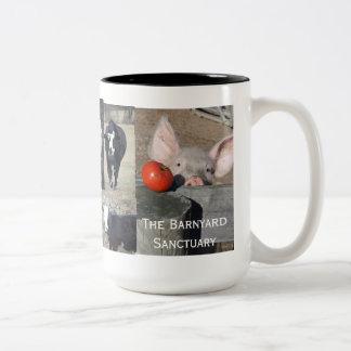 taza de café del animal del campo