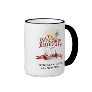 Taza de café del aniversario del Jamboree que rued