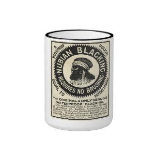 Taza de café del anuncio de Nubian del vintage que