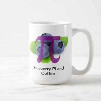 Taza de café del arándano pi
