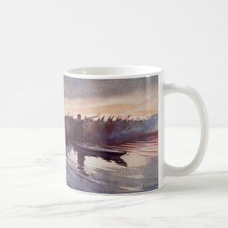 Taza de café del arma del deportista del lago