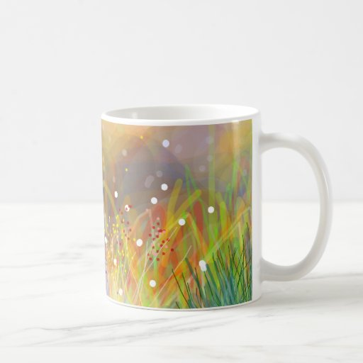 Taza de café del arte abstracto