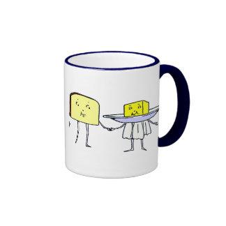 Taza de café del arte de la cocina de pan y de la