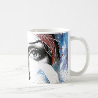 Taza de café del arte de la pintura de la acuarela