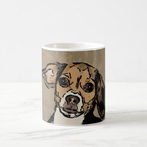 Taza de café del arte del beagle