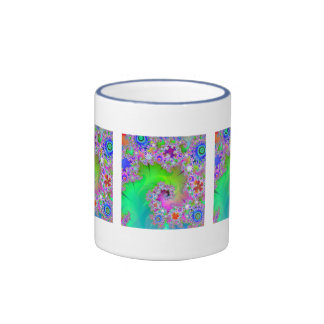 """Taza de café del arte del fractal de la trayector"