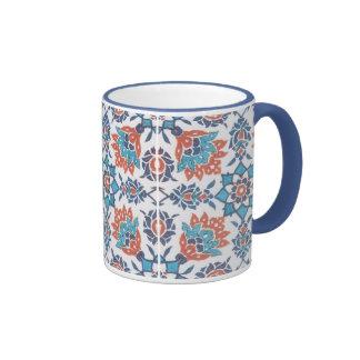 Taza de café del arte del modelo del rojo azul de