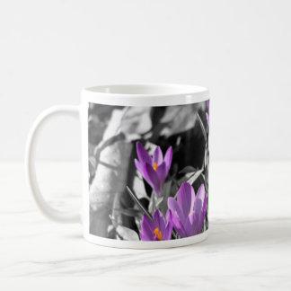 Taza de café del azafrán