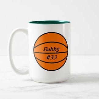 Taza de café del baloncesto
