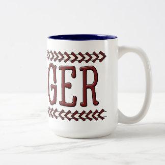 Taza de café del bateador del béisbol